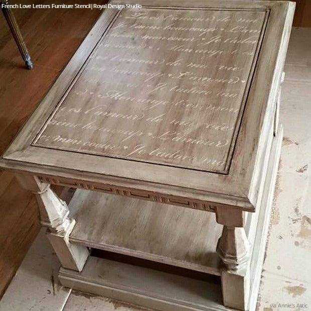 15 Chic Stencil Ideas for DIY Painted Furniture Upcycled Projects - Royal Design Studio Furniture Stencils for Painting