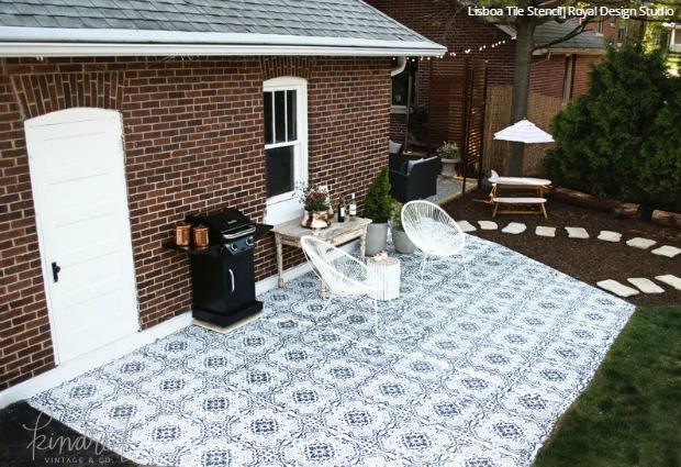 DIY Decorating Ideas For Stenciling A Porch Or Patio Floor Design Interesting Designs For Backyard Patios Painting