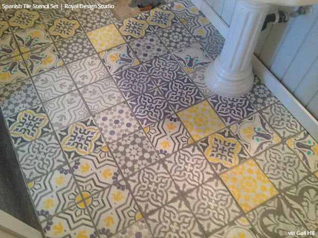 Easy Diy Fix Concrete Floor Stencils For Painting And Remodeling