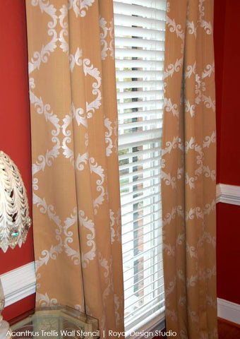 Stencil custom curtains with Royal Design Studio stencils