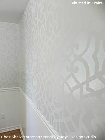 Chez Sheik Moroccan Stencil on Walls | Royal Design Studio