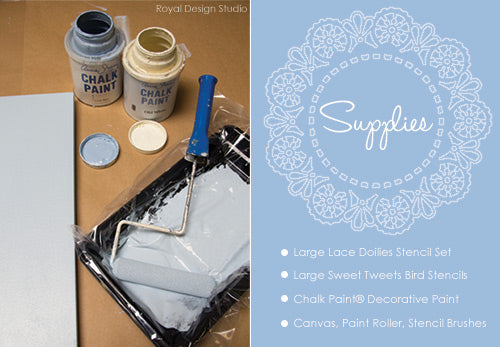 Roller stenciling with Chalk Paint® and Royal Design Studio stencils