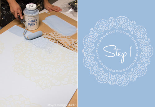 Lace Doily stencils from Royal Design Studio