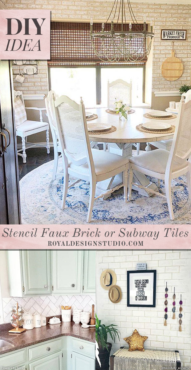 Diy Idea Stencil A Faux Brick Wall Or Subway Tiles Royal Design Studio Stencils