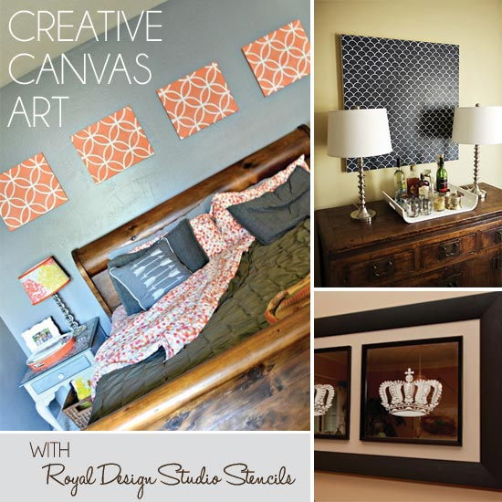 Creating Canvas Art With Stencils