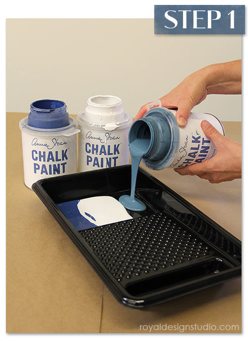 How-to use Chalk Paint® decorative paint with stencils to create a faded silk fabric finish