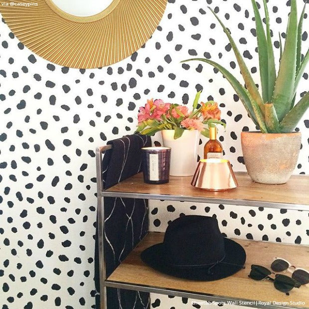 25 Stencil Projects that Will Insta Inspire - Wall Stencils and Furniture Stencils Ideas Inspired by Instagram DIY Projects - Royal Design Studio