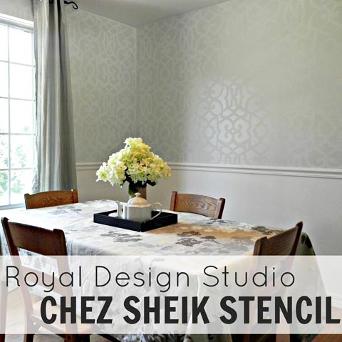 Creating an Allover Stenciled Wallpaper Look on Walls | Royal Design Studio