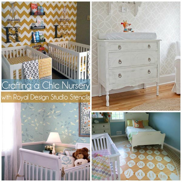 Nursery Decorating Ideas: Nursery Decorating Ideas. Paint And Stencil With Stenciled