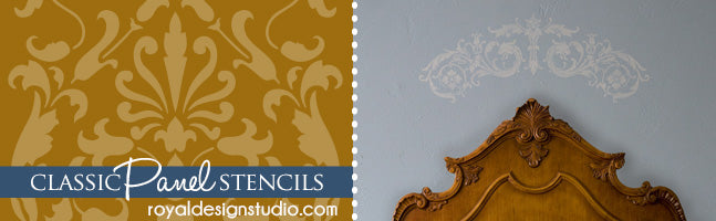 Royal Design Studio - Classic Stencils, Panel Stencils, Furniture Stencils for Painting Furniture, Cabinets, and Doors