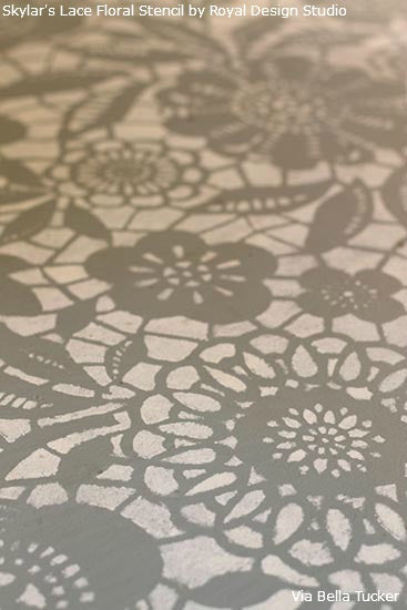 Lace Stencils And Patterns For Painted Floors Royal