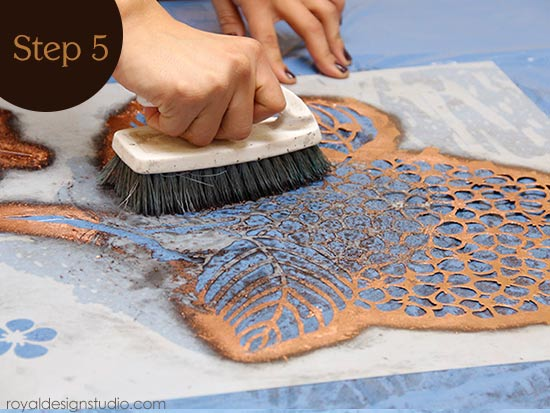 How to clean a stencil after gilding with Royal Stencil Size