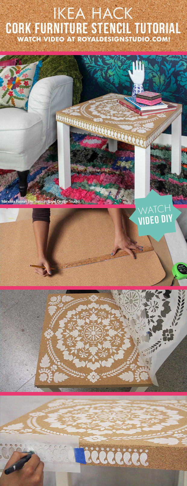 Easy diy ikea hack how to decorate cork furniture for Tutorial ikea home planner