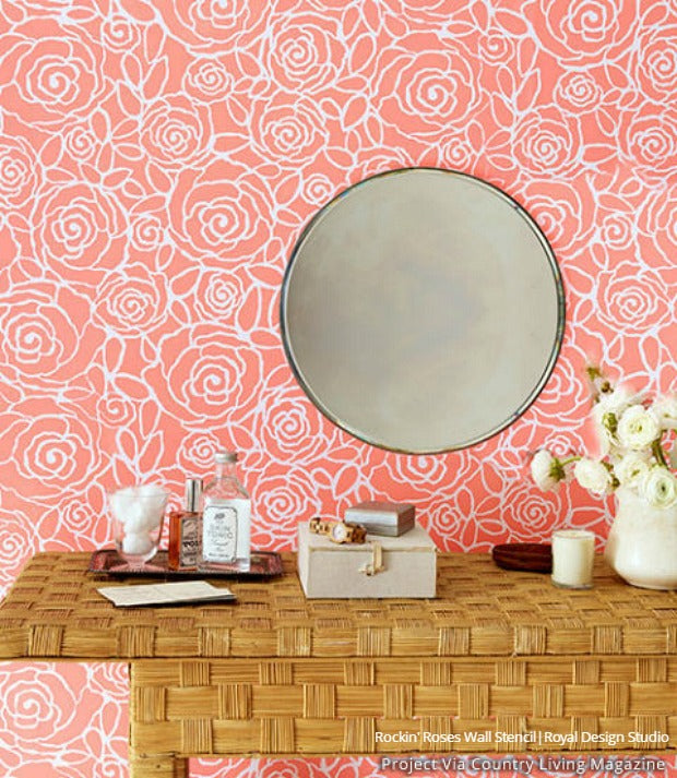 Pink Stencil Interior Decorating Ideas from Subtle to Sensational ...