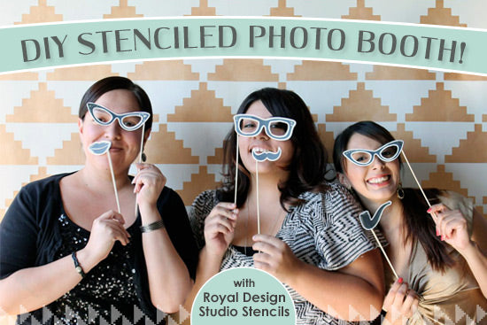 Stencil your own fun Photo Booth Backdrop with Modern Stencils from Royal Design Studio