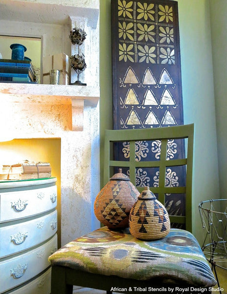 Tribal Trend Alert! 11 African Décor Ideas using Tribal Stencils from Royal Design Studio