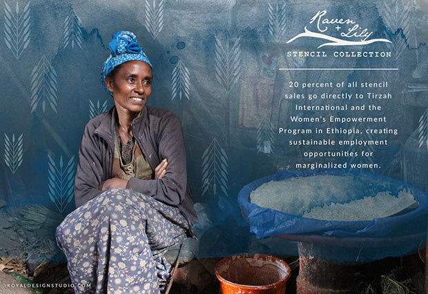 Raven + Lily Stencil Collection from Royal Design Studio Stencils empowers Ethiopian women in Africa