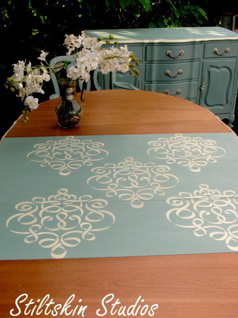 Chalk Paint dining table in duck egg blue