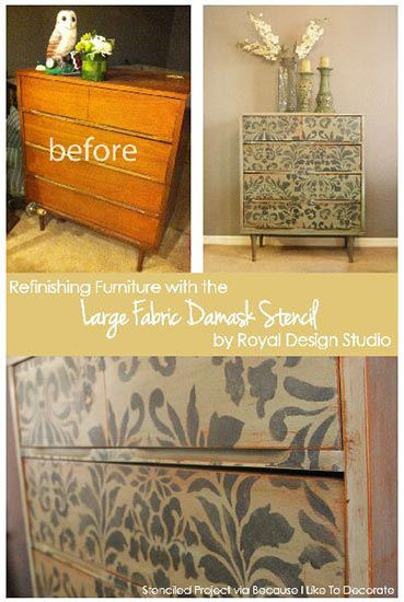 Refinishing Furniture with Stencils | Royal Design Studio