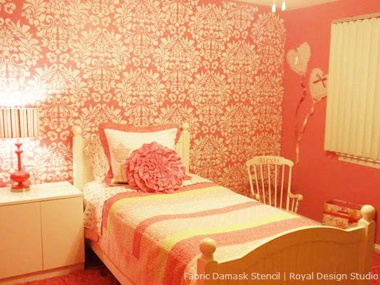 Pretty Ideas for Pink Stenciled Rooms | Royal Design Studio