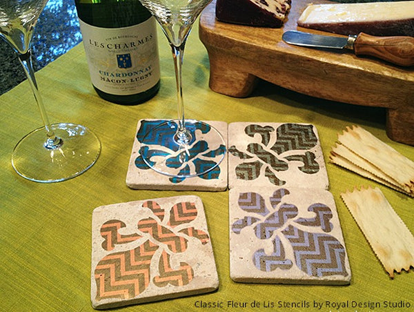 The Creatively Stenciled World of a Nomadic Decorator - Exotic & Global DIY Craft Projects & Tutorials using Royal Design Studio Stencils
