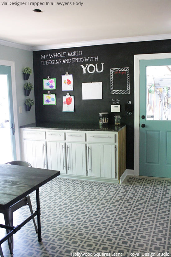 Floored by the Hollywood Squares Stencil! | Royal Design Studio ...