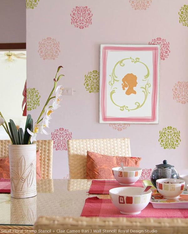 Ideas for Pink Rooms | Royal Design Studio Stencils