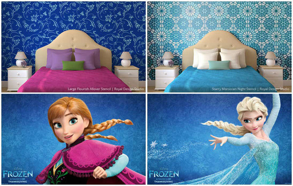 Girl Bedroom Stencil Frozen