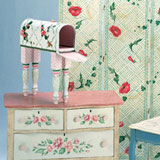 free form stenciling on furniture