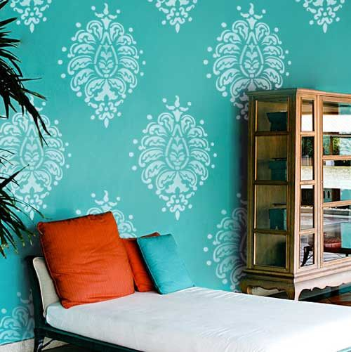 Allover Stenciled Wall Motif Ideas | Royal Design Studio