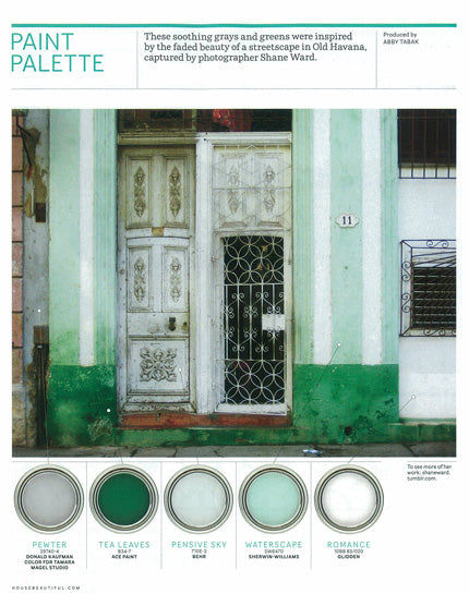 Green stenciling inspiration from House Beautiful