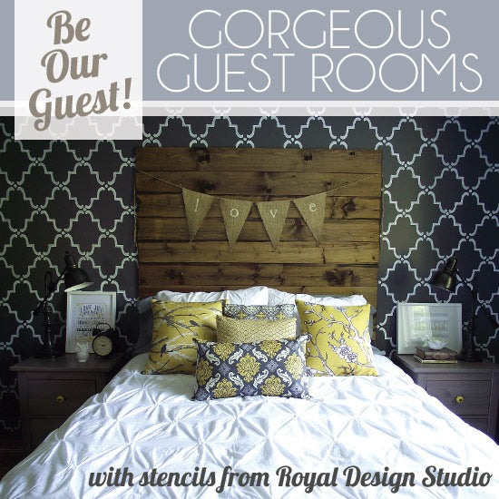Stenciled Pattern Ideas for Guest Rooms