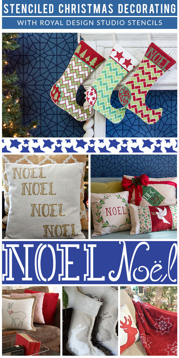 Holiday Decorating Ideas with Christmas Stencils - Royal Design Studio Holiday Stencils