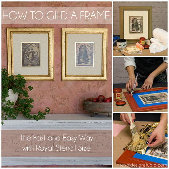 How to gild a frame with Royal Stencil Size and Gold Leaf