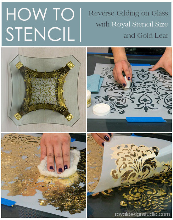 How To Stencil Tutorial Reverse Stenciling And Gilding On