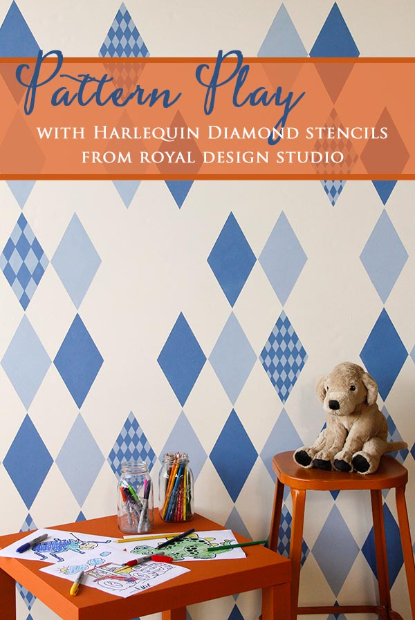 How To Stencil Harlequin Diamond Stencils For Kids Room