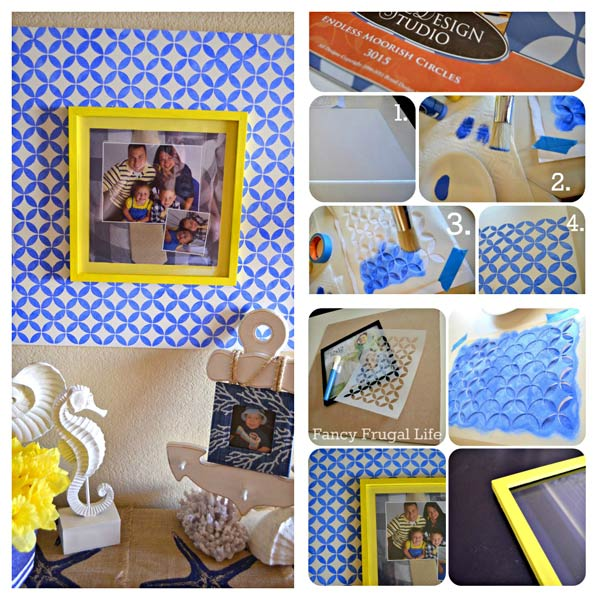 how to stencil a picture frame project