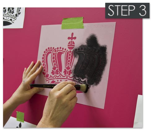 How to stencil with a stencil brush
