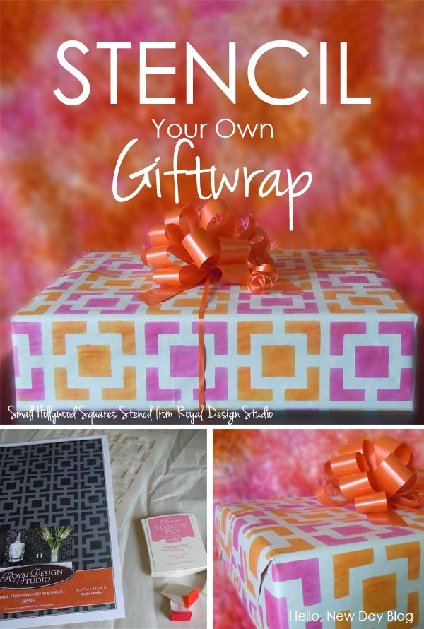 How to stencil gift wrapping paper