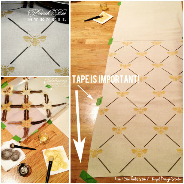 How to stencil a table runner from a drop cloth