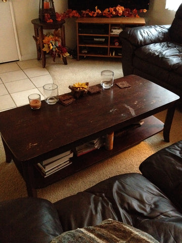 Stencil Idea for Coffee Table