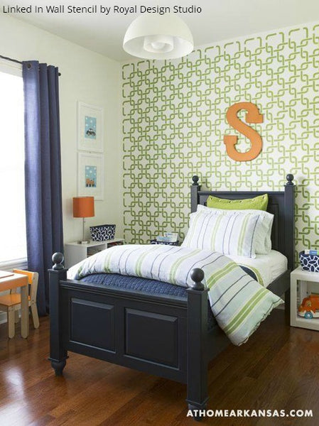 9 Boys' Bedroom Ideas Using Furniture & Wall Stencils