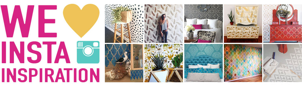 Royal Design Studio Stencils Ideas for DIY Painting Projects on Instagram