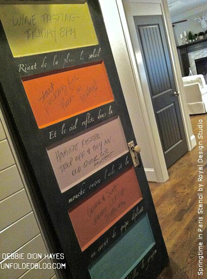 Creating Decorative Stenciled Door Art with Stencils and Chalk Paint® decorative paint | Royal Design Studio