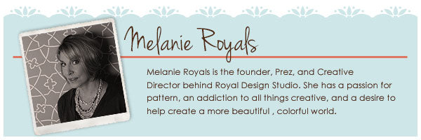 Melanie Royals  is a stencil artist and desiger who founded Royal Design Studio Stencils in 1994