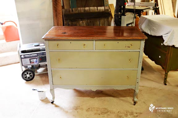 Prepping a Dresser for Stenciling