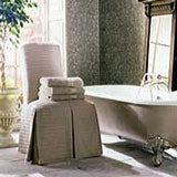 metallic stenciled bath