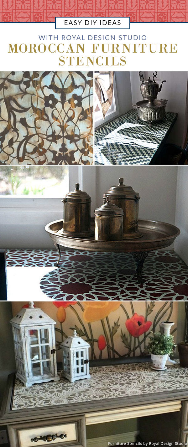 13 Easy DIY Ideas with Moroccan Furniture Stencils from Royal Design Studio