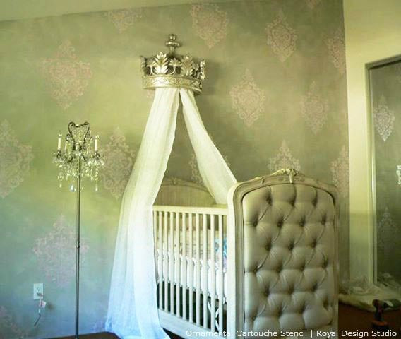 Nursery Decorating Ideas. Paint and Stencil with Stenciled Patterns ...