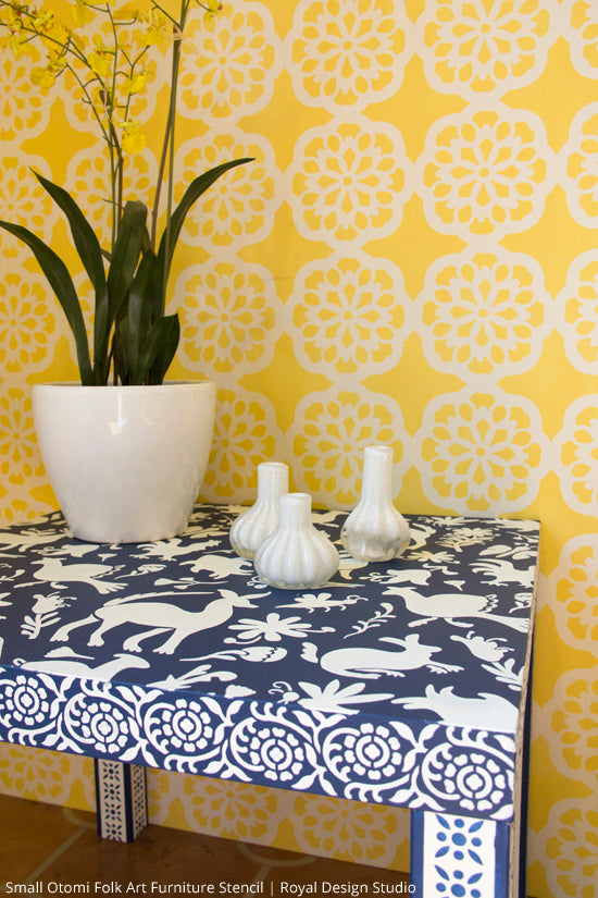 Stencil DIYs With the Haute and Trending Otomi Patterns | Royal ...